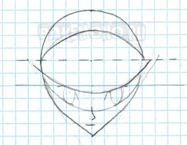 Рисуем две изогнутые линии