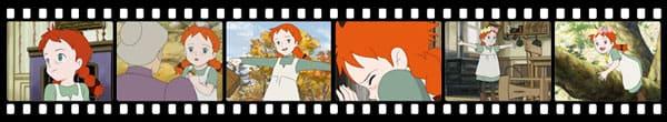 Кадры из аниме Konnichiwa Anne