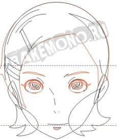 Дорисовываем лицо