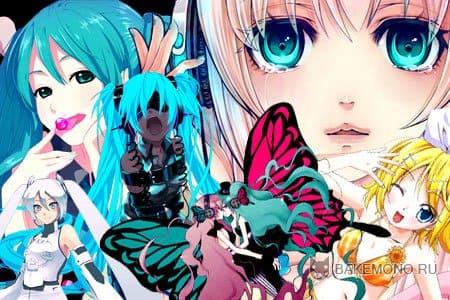 Скачать скрап-набор Vocaloid в формате png без фона.