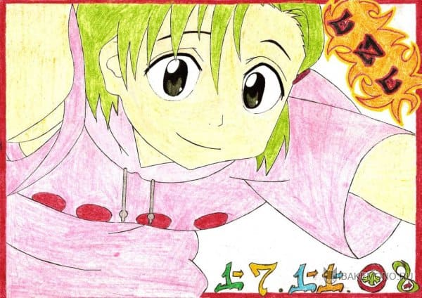 аниме девушки +с зелеными волосами