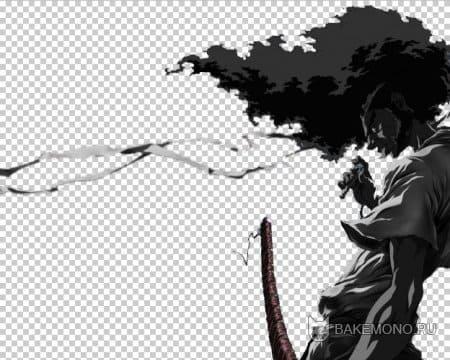 скрап-набор afro samurai