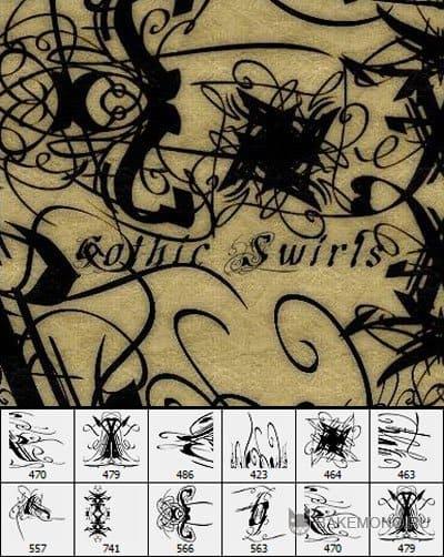 Gothic Swirls Brushes