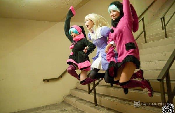Девушки в гетрах