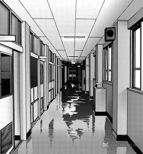 коридор школы