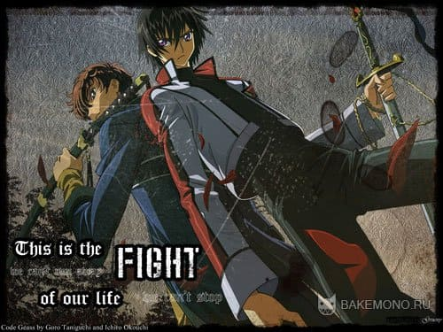 Code Geass - парни с самурайскими мечами