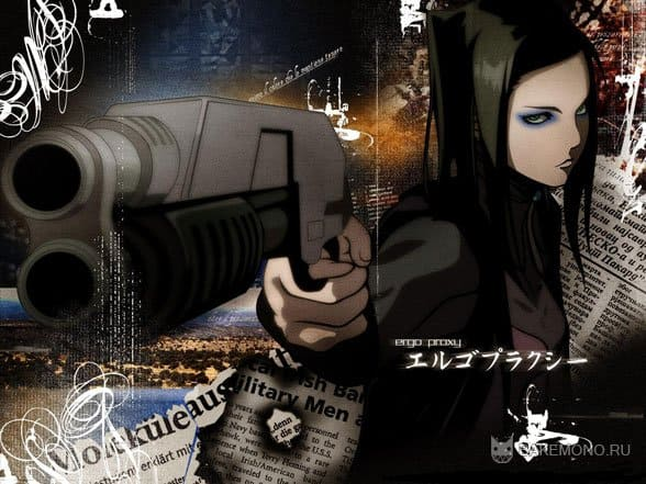 эрго прокси обои, девушка с пистолетом