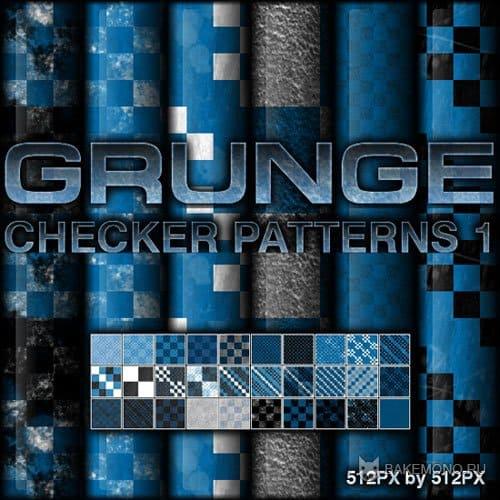 Grunge Checker Patterns