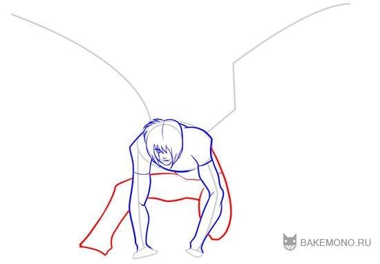 рисованию талии, живота и ног