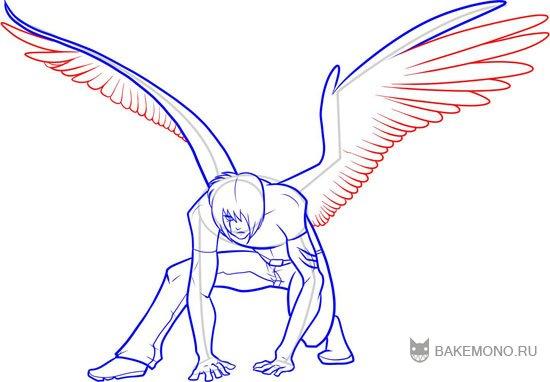 большие и средние перья