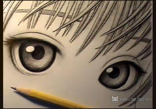 Очаровательные глаза карандашом