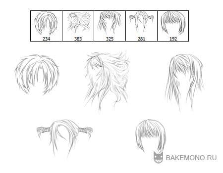 картинки прически для девушек аниме