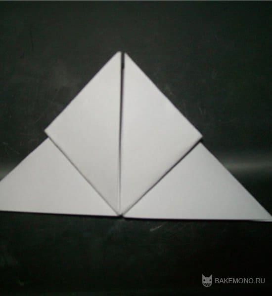Создание маленьких оригами-Пикачу