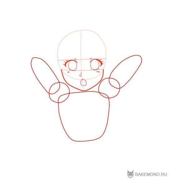 Как рисовать Неко девочку