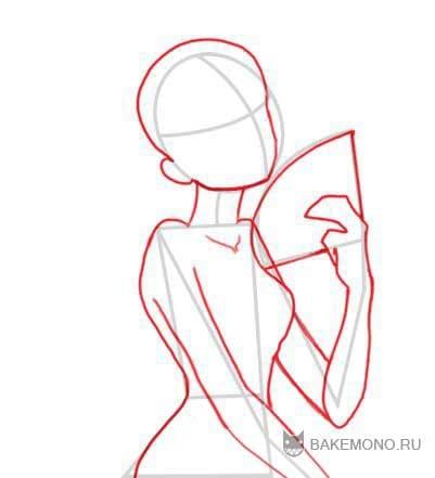 Как рисовать кимоно