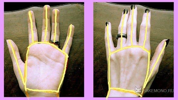 Рисуем скелет пальцев на фотографии рук