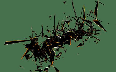 3D абстракция взрыва