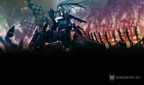 Открываем в фотошопе обоину из аниме Black Rock Shooter
