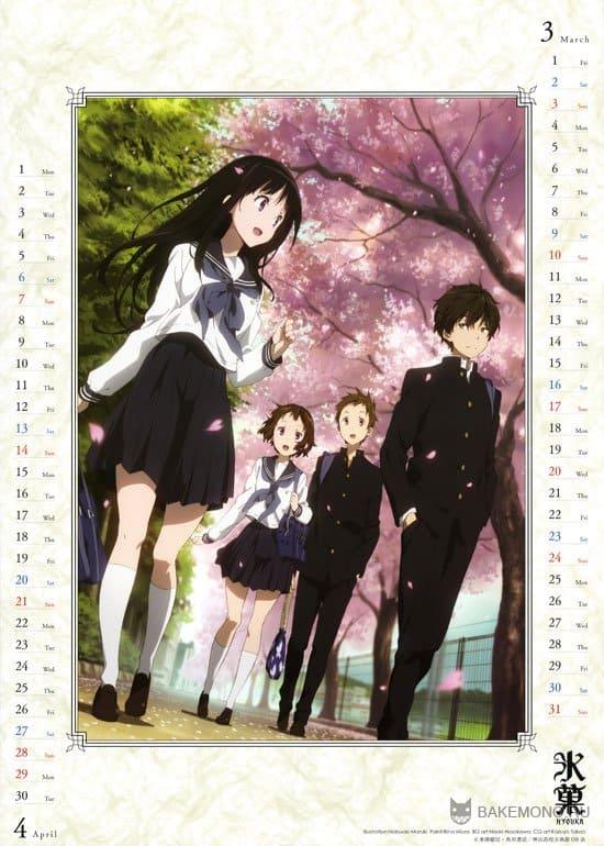 Аниме календарь Hyouka 2013
