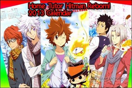 Аниме календарь Katekyo Hitman Reborn! 2013