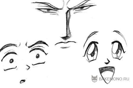 Эмоции на лице
