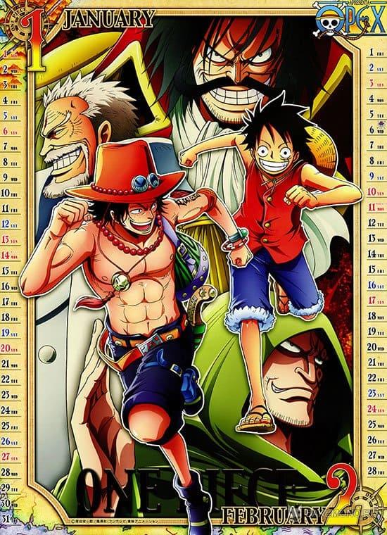 Аниме календарь One Piece 2013