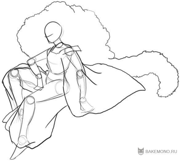 Как рисовать Сесшомару