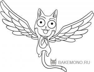 Как рисовать Хеппи из аниме FairyTail