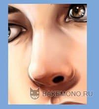 Покраска арта в в стиле реалистик - нос