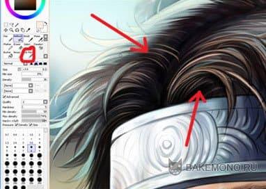 Покраска арта в в стиле реалистик - Волосы