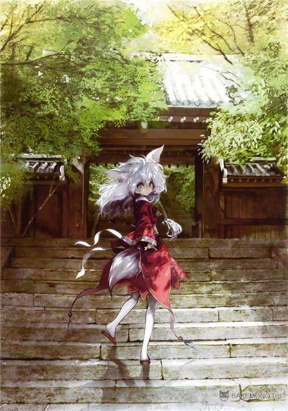 Неко девушка в красном платье возле храма