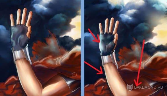 Покраска арта в в стиле реалистик - руки