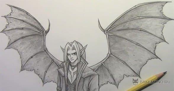 Как рисовать парня-демона
