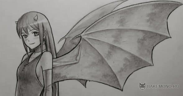 Как рисовать девушку-демона