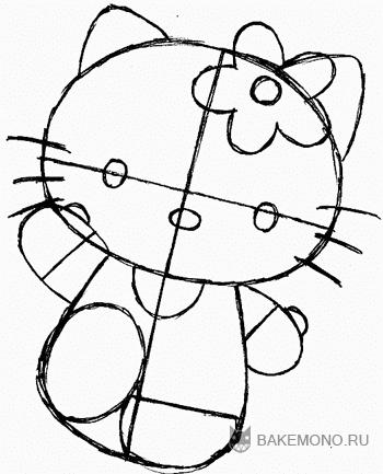 Как рисовать Hello Kitty