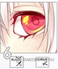 Раскрашиваем аниме глаза