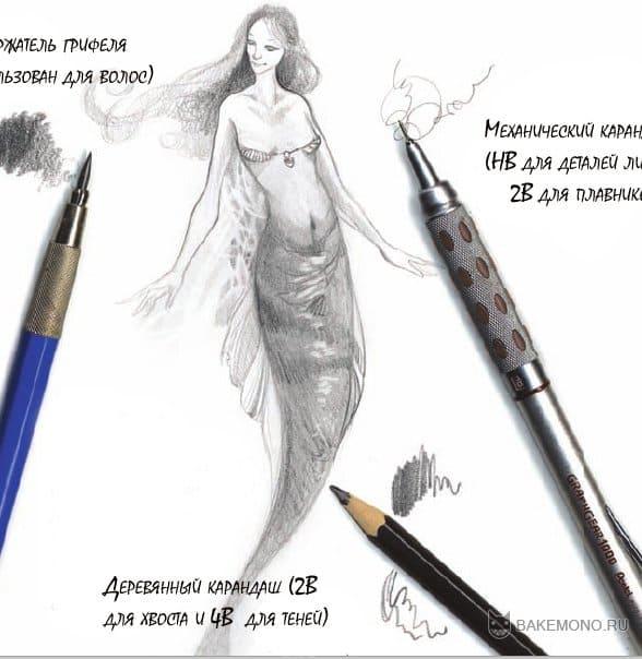 Использование различных видов карандашей