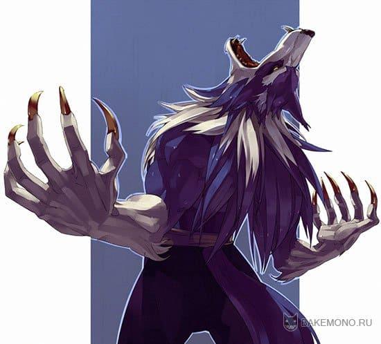 Аниме волки оборотни