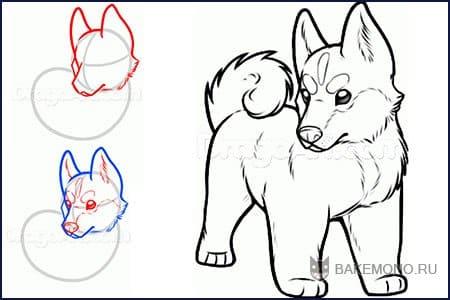 животных уроки рисования рисунок
