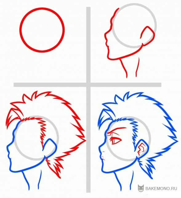 Как рисовать Тосиро Хицугая