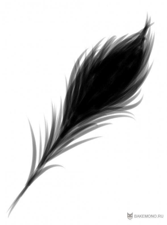 Как рисовать перо павлина