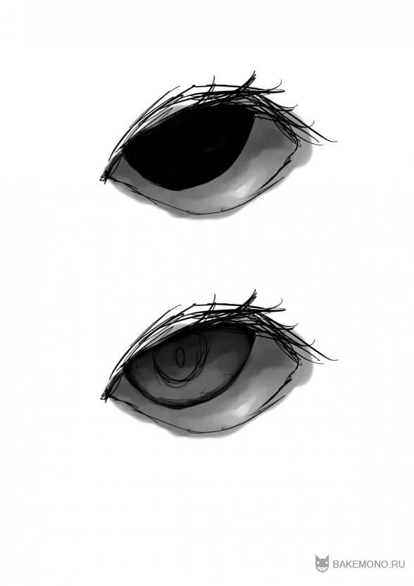 Еще один способ рисования глаз