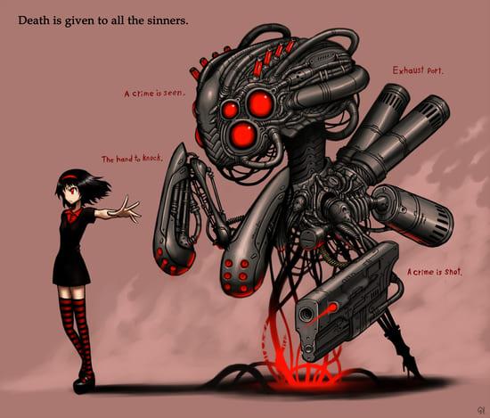 Девушка с роботом