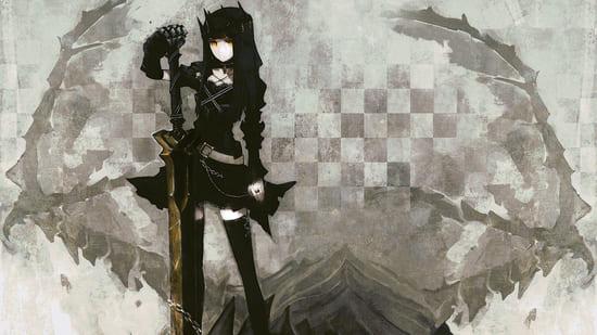 Черное-белое изображение аниме
