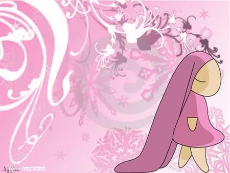 Картинка непонятного аниме существа в розовом
