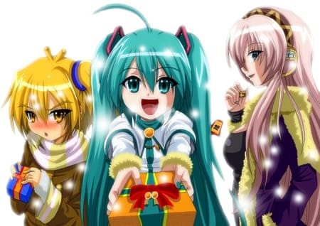 Рождественские аниме обои