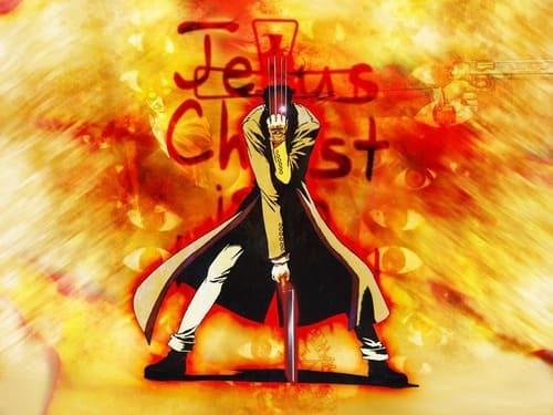 Яркая желтая аниме картинка с парнем и надписью