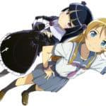Картинка с двумя девочками из аниме