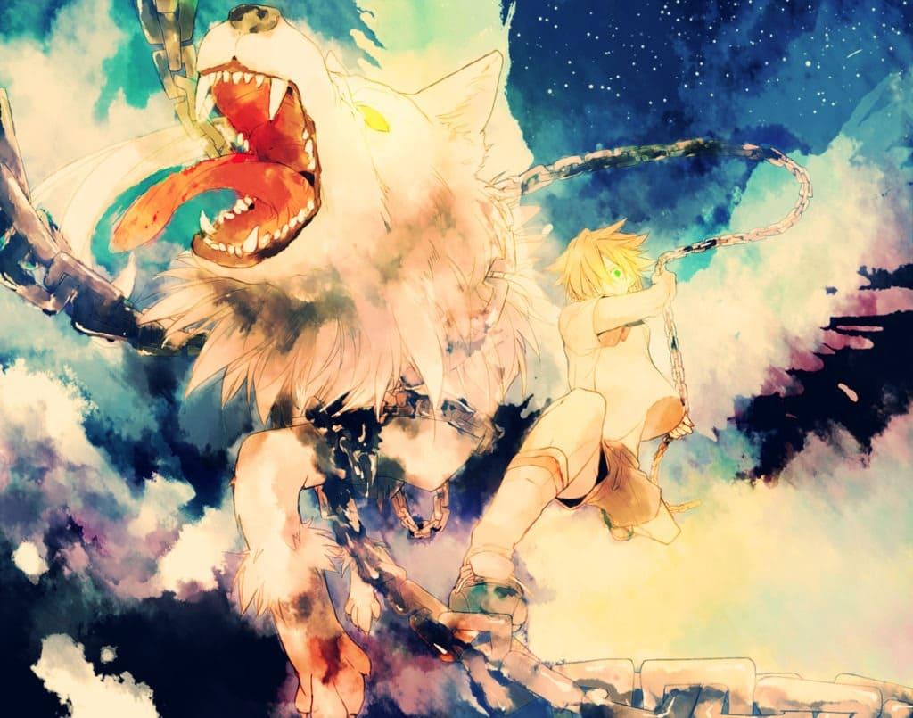 Картинки - злых аниме волков