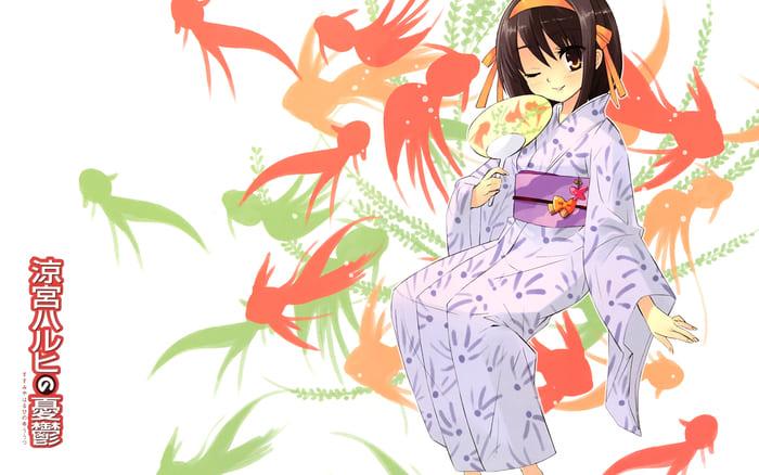 Аниме обои с японской девушкой